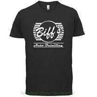 Luźne Bawełniane T-shirty Dla Mężczyzn Schłodzić Topy T-shirty męskie Biffs Auto Detailing T-shirt-10 Kolory