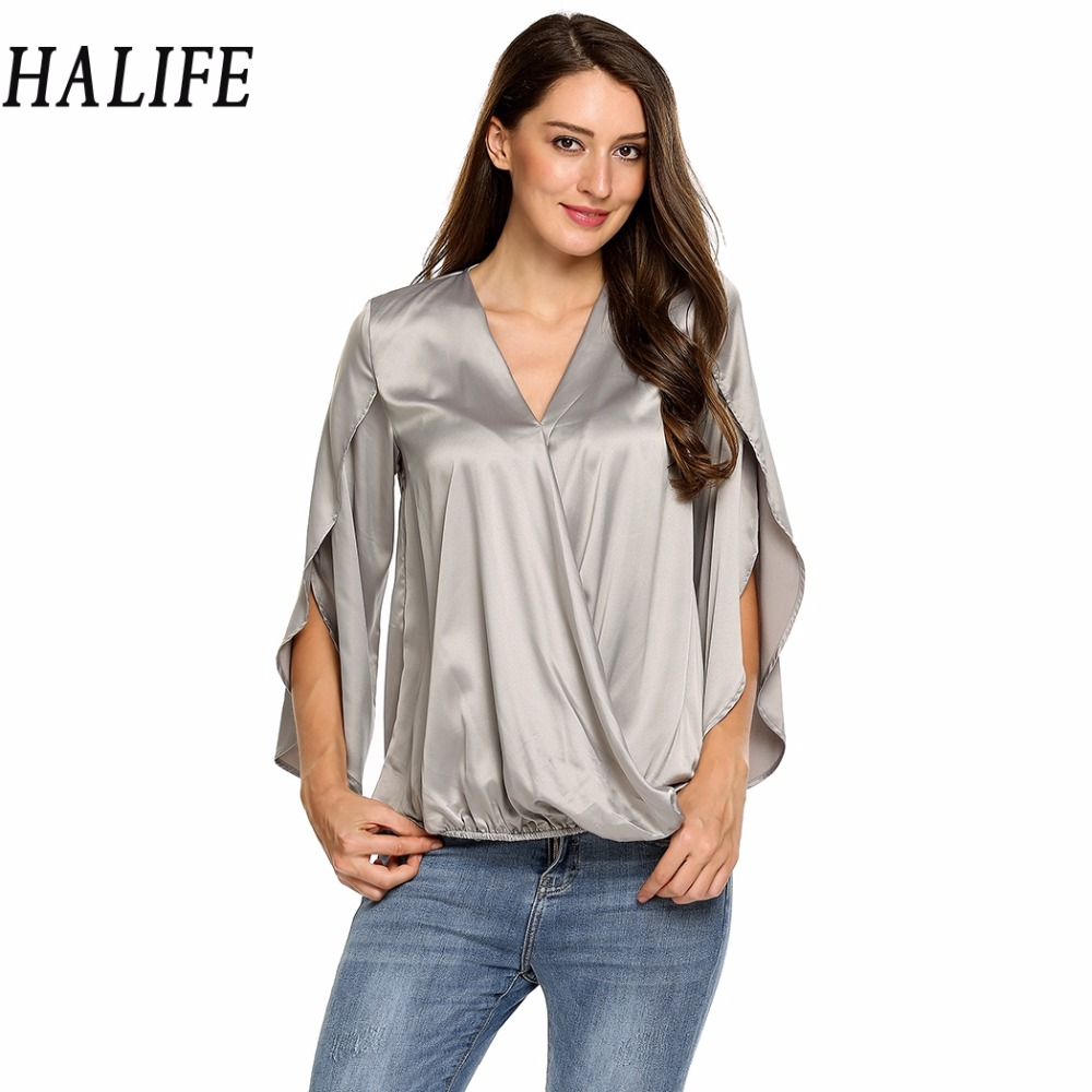 5a6a131108152d Buy blouse satin femme and get free shipping on AliExpress.com