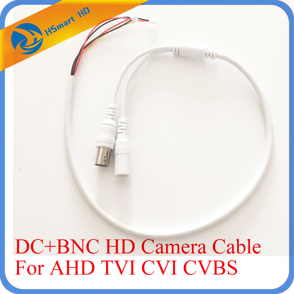 55cm 5 Pin Analog BNC F Video & DC Jack female cord CCTV AHD TVI CVI 1080P Camera Power HD White Cable/Lead