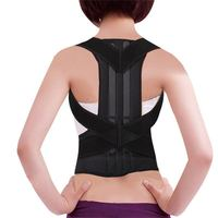 Spinal Back support comfortable breathable corset posture correction back shoulder support with double pull elastic back support