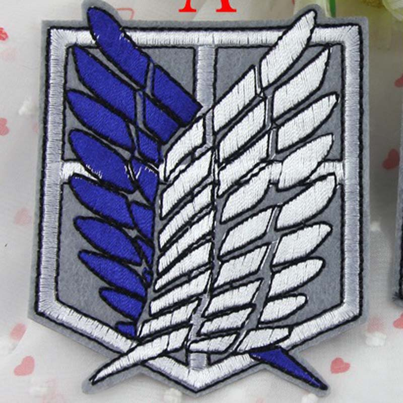 Embroidered Patches Attack On Titan Recon Corpsblue Wings Game