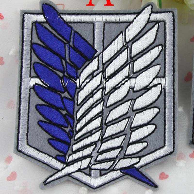 Cartoon Iron on Anime Attack On Titan Embroidered Clothes Patch For Clothing Girls Boys