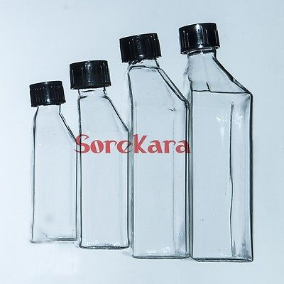 10ml Cell Tissue Glass Culture Flask With Bevel Screw Cap Angled Neck  Lab Use