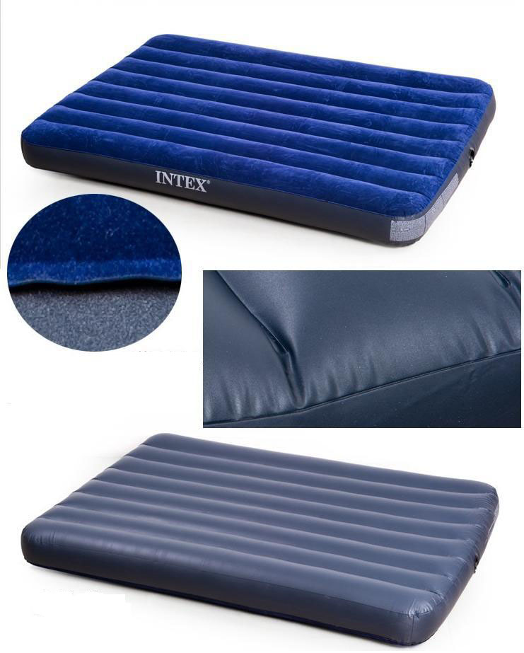 Colchón Inflable Popularity Intex 2 Doble Compre New Stripe Flocked N8mOvwyn0