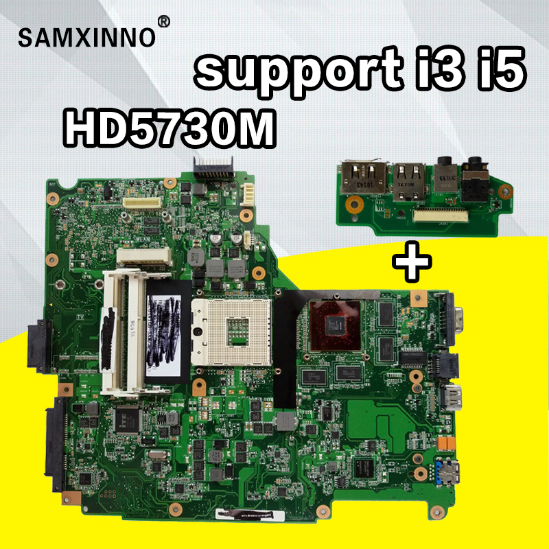send board+N61JA Motherboard HD5730M i3 i5 For ASUS N61JQ N61JA laptop Motherboard N61JA Mainboard N61JA Motherboard test ok стоимость