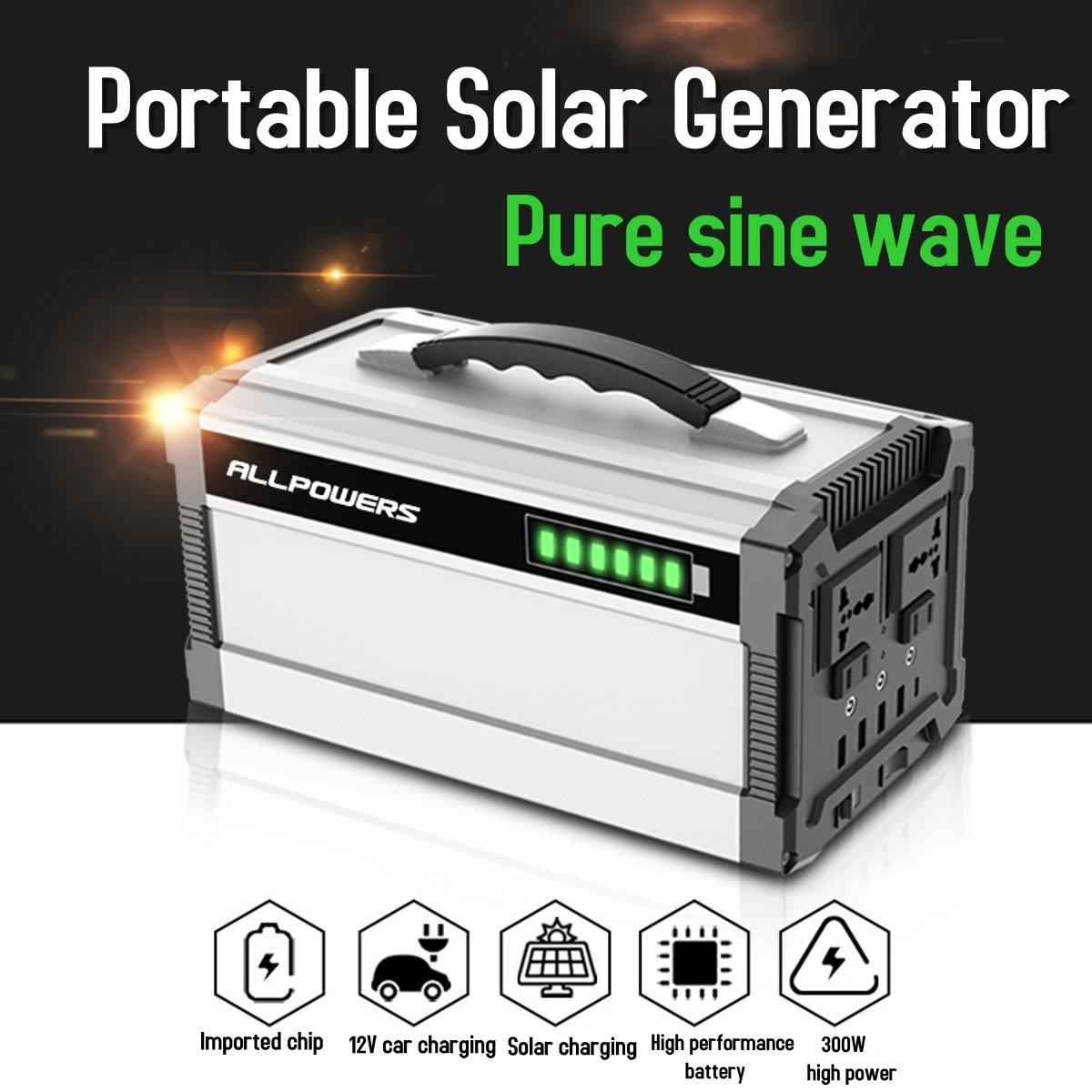 300W 80000mAh 296Wh Portable générateur solaire onduleur solaire onde sinusoïdale Pure onduleur solaire alimentations