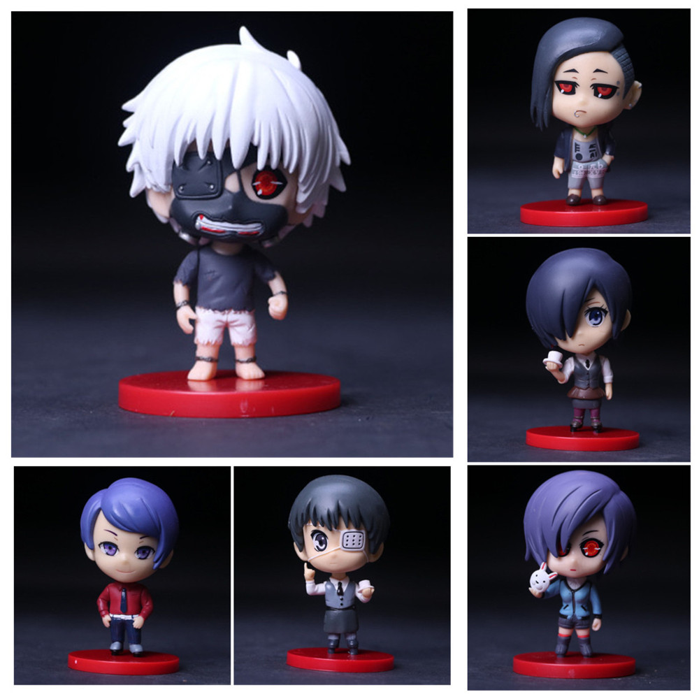 Japan Anime Tokyo Ghoul PVC Action Figures Collectible Model Toys Christmas Gifts Kawaii Mini Kids Toy 10cm japan anime neca devil may cry dante pvc christmas christmas gifts doll action figure collectible model toy t5841