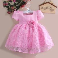 Retail 2012 New Advanced Girl Flower Dresses 4 Color Children Princess Party Dress 4 SIZE Ready