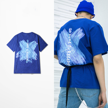 High quality cotton skateboard T-shirt with vivid animal cartoon pattern for hip hop men t-shirt or skateboarding sports