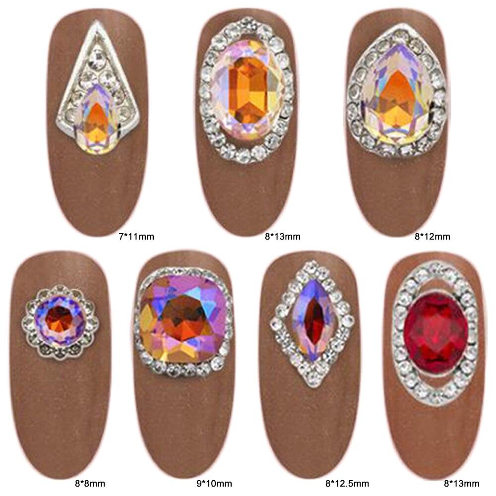 Glass Crystal Flame AB Rhinestones0