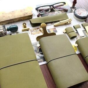 Image 3 - Fromthenon planificateur de voyages, en cuir véritable vert Olive, 2018 Note pour Journal intime, Vintage, papeterie pour Journal personnel
