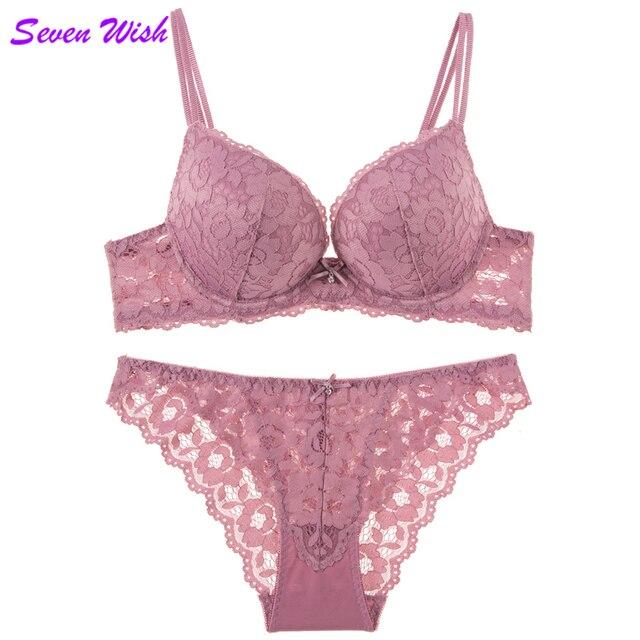 O novo sexy feminino sentido da tentação de reunir um pequeno bra mama sob os cuidados de underwear rendas copo grosso conjunto de sutiã