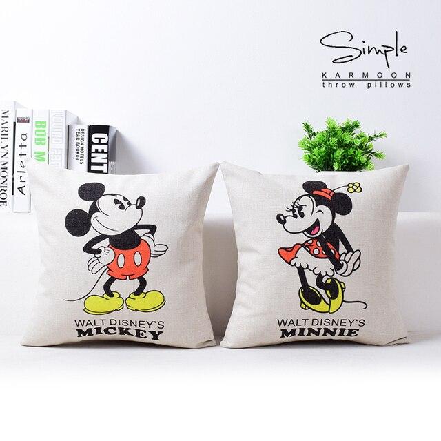 Envío libre Mickey Minnie Almohadas cubierta Decoración para el ...