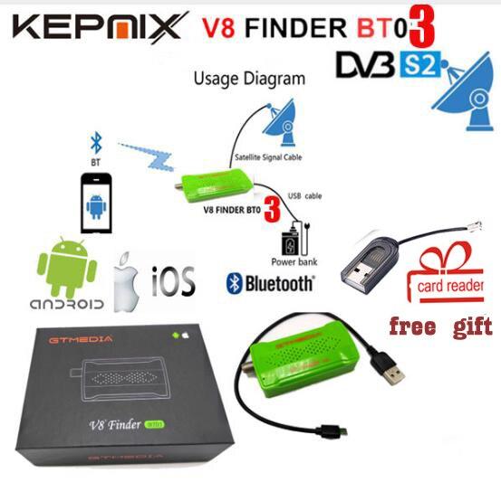 GTmedia V8 Finder BT03 DVB-S2 bluetooth satellite finder android i os vs satlink 6933 HELLOBOX B1 Freesat V8 Finder BT01