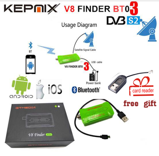 GTmedia V8 Finder BT03 DVB-S2 bluetooth satellite finder android je os vs satlink 6933 HELLOBOX B1 Freesat V8 Finder BT01
