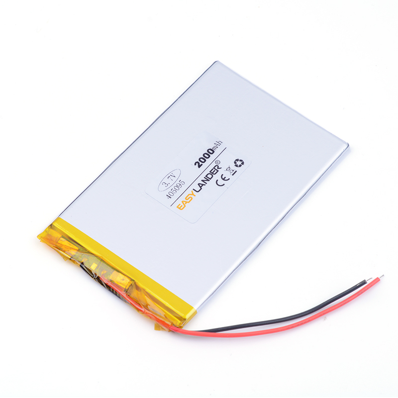 polymer lithium battery 3.7v 405095 2000MAH For tablet pc power bank PAD PSP E-book andorid phone 045095