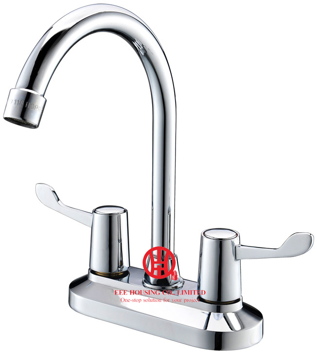 Free Shipping Brass Two-handles Washbasin Mixer,basin Faucet,chrome Finished,bathroom Accessories
