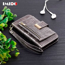 IMIDO Flip Leather Phone Case For iPhone X XS 8 7 6 6S Plus Crocodile Skin Wallet Card Stand Holder Back Cover For iPhone 7 Capa цена в Москве и Питере