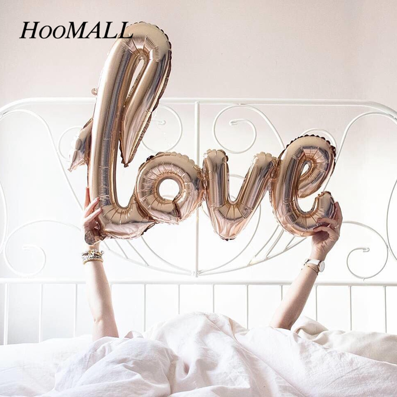 Hoomall Love Letter Foil Balloon Wedding Decoration Inflatable Air Balloons Balls New Year 2018 Birthday Party Baby Shower DIY ...