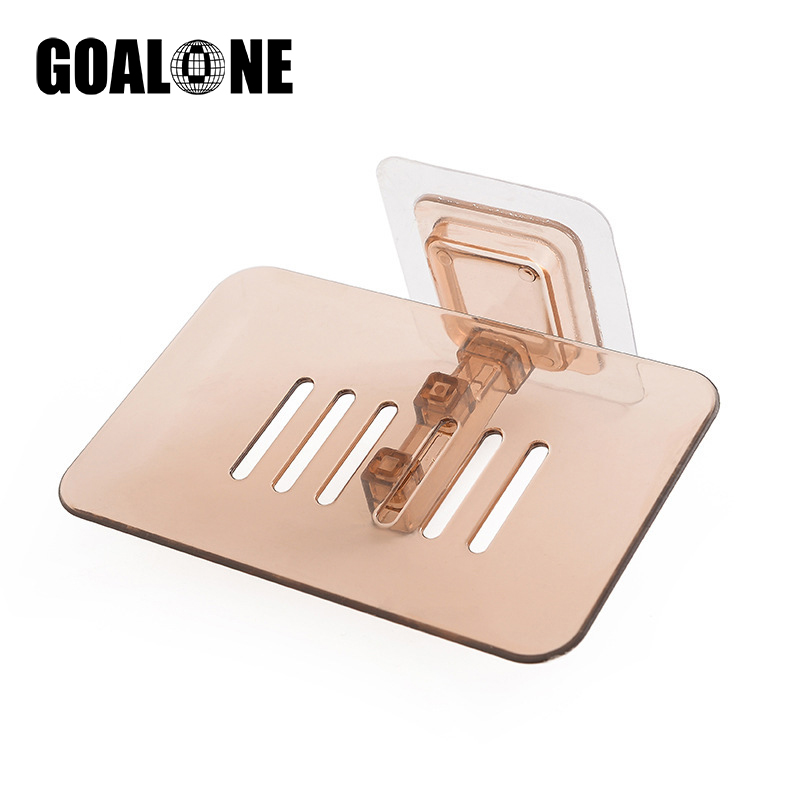 GOALONE 3Pcs/Set Soap Holder Wall Mounted Adhesive Designed Draining Dish Case for Shower Bathroom Accessories