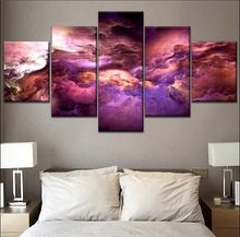 One Set Modular Style Canvas Painting Home Decor Wall 5 Piece Abstract Colorful Clouds Graphics Picture Modern HD Print Type