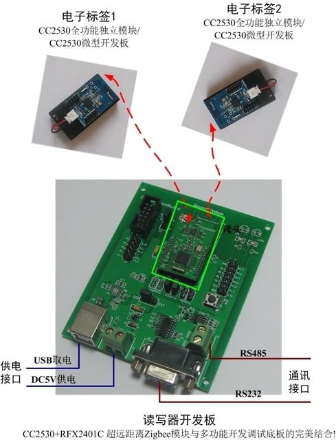 cc2530 zigbee 2 4g active rfid read & write & radio frequency  cc2530 zigbee 2 4g active rfid read & write & radio frequency identification development kit