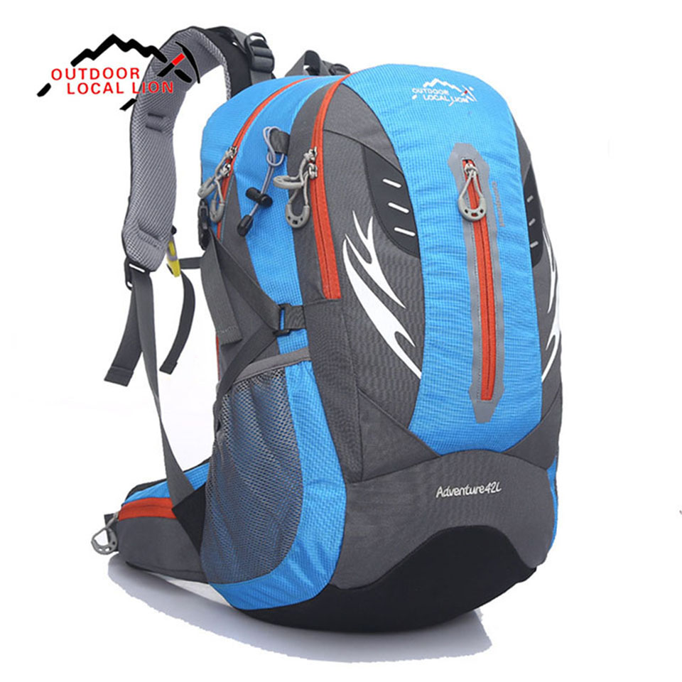 Outdoor LOCAL LION Mountaineering Backpack Sports Bags Camping Climbing Packsack Lightweight Trekking Hiking Rucksack 42L local lion spo464 outdoor cycling climbing ultra light breathable double shoulder bag backpack red