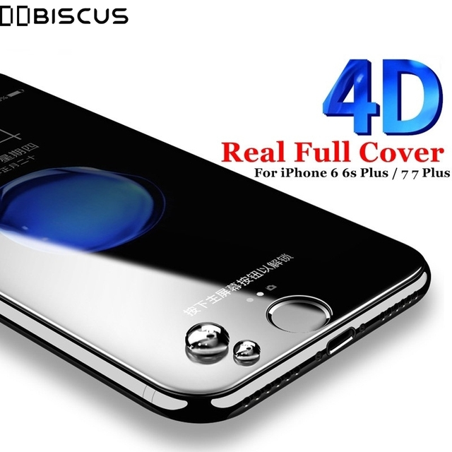 on sale 8c6f2 cf03c US $2.68 |4D Curved Edge Screen Protector For iPhone 8 7 Plus Full Cover  Tempered Glass For iPhone 6 6S Plus -in Phone Screen Protectors from ...
