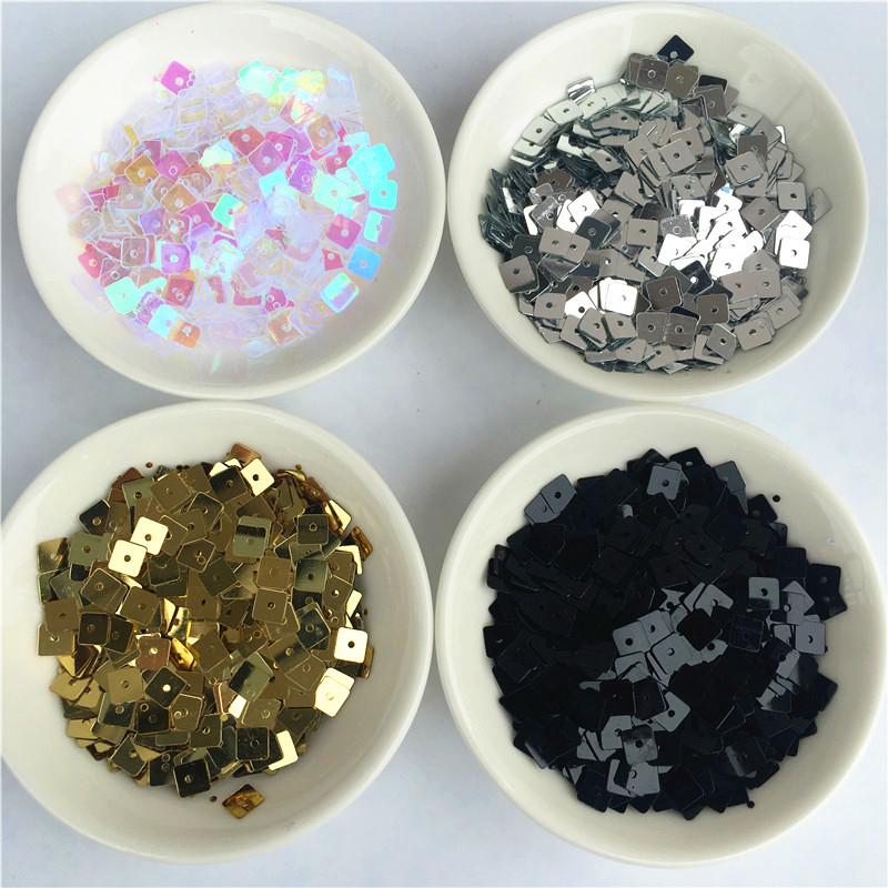 3000pcs//lot 5mm Flat Square Shape loos Sequins for sewing Material Wedding Craft