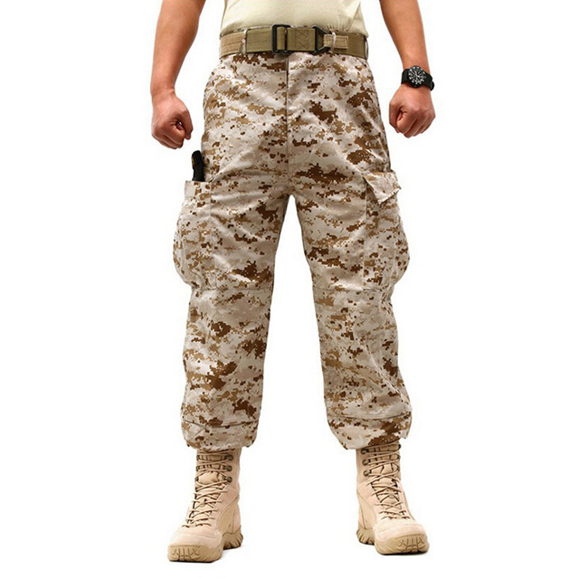 Military Trousers 2016 Brand New Camouflage Military Army Cotton Cargo Pants Pocket Decorated Pants Plus Size XS-XXL