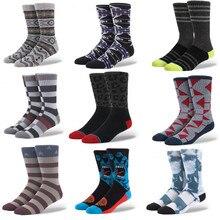 1 пара, американский бренд, чёсаный хлопок, носки для скейтборда, мужские носки, яркие носки