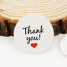 100Pcs/lot Round Kraft Paper Multi Cute Brown/White THANK YOU Paper Gift Label Tag Hang Handmade Wedding Party Craft Gift Tags customized women jewelry fashion stainless steel name necklace personalized letter gold choker necklace pendant nameplate gift