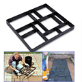 Practical Garden stone Stone Mould Driveway Paving Pavement Concrete Stepping Stone Mold Patio Making Mould