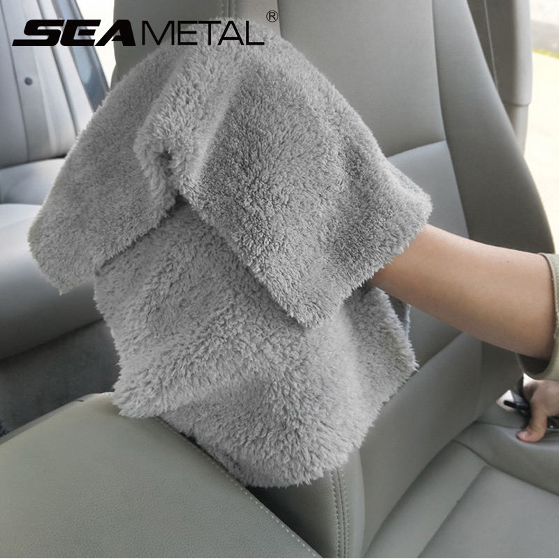 Image 2 - Microfiber Towel Car Wash Towels Auto Detialing Clean Cloth Washing Drying Towels Strong Thick Plush Fiber Car Wash Accessories-in Sponges, Cloths & Brushes from Automobiles & Motorcycles