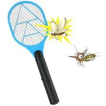 2018 New Fashion Mosquito Killer Electric Tennis Bat Handheld Racket Insect Fly Bug Wasp Swatter Flies Bugs Mosquitoes Killer(China)