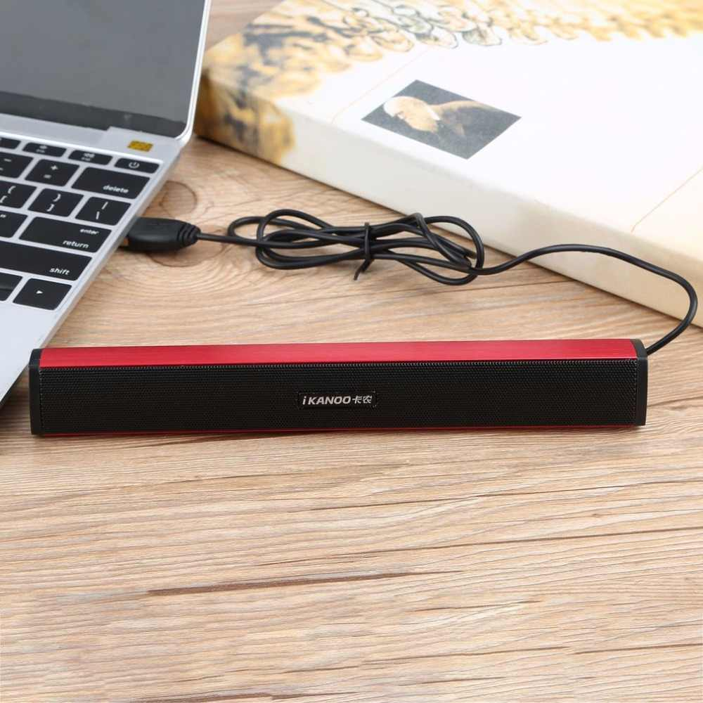 N12 Usb Laptop Portable stereo Speaker Audio Soundbar mini USB laptop portable speakers Geluid Bar Luidsprekers pc hot new