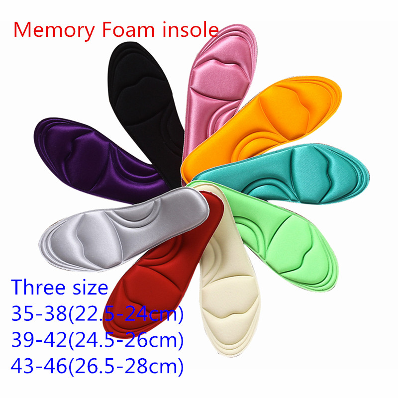 5 Paris/package  Free shipping 2015 newest memory foam shoes pad  plantar fasciitiscomfortable memory foam insole single sided blue ccs foam pad by presta