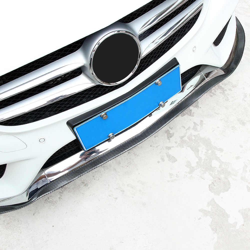 Saia Lateral de Fibra de carbono Lábio Dianteiro Do Carro Guarnição Corpo do Amortecedor Dianteiro Para Ford Focus 2 3 4 Falcon Mondeo Fusão Kuga Ecosport Fiesta BORDA