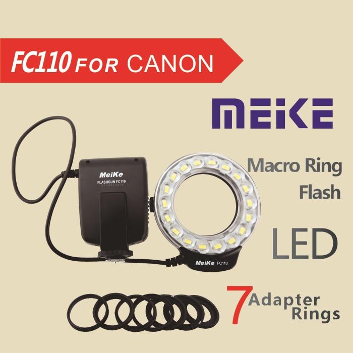 Meke meike fc 110 fc110 led marco ring flash para canon 5d mark ii ...