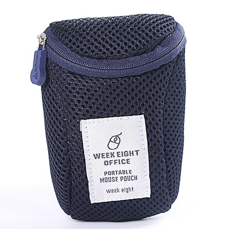 Sans fil souris sac de rangement antichoc Portable chargeur puissance voyage étui de protection écouteur USB fil organisateur Anti-chute pochette