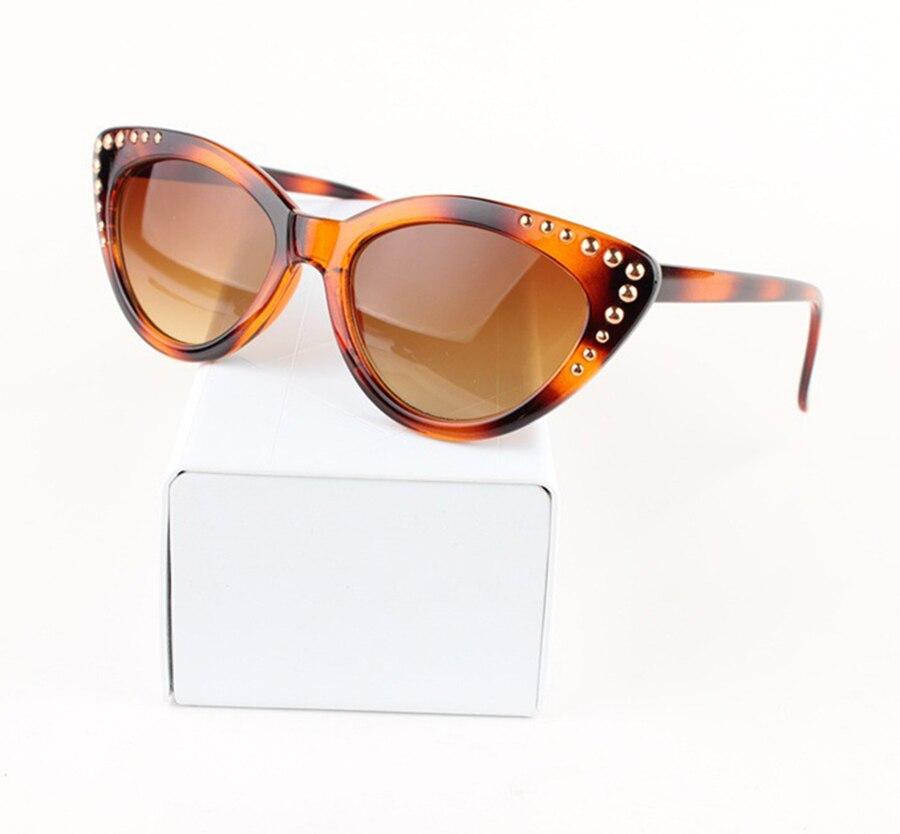 ②Jackjad 2018 moda mujeres gradiente gato Gafas de sol vintage ...