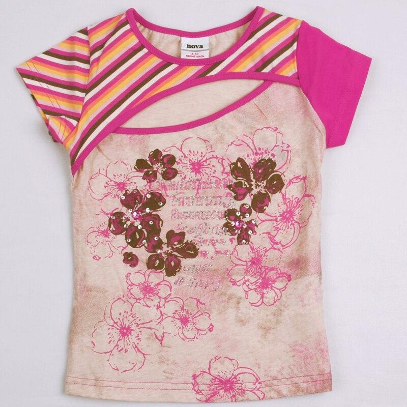 Retail baby girl t shirt 2016 new nova summer girl for Newborn girl t shirts