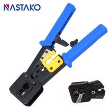 Buy NASTAKO tools RJ11 EZ RJ45 crimper Crimping Cable Stripper pressing line clamp pliers tongs for network EZ rj45 connectors directly from merchant!