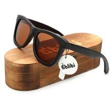 Ablibi Men's Wood Sunglasses Polarised Vintage Wooden Craft