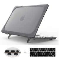 Support pliable de housse extérieure antichoc chaude pour Macbook Air Pro Retina 11 12 13 pouces avec barre tactile A1466 A1502 A1706 A1708