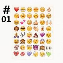 Dzfollow 10 листов много (480 Die-Cut смайлики наклейки) наклейки Наиболее Популярные Emojis Для Мобильного Телефона Дети дома