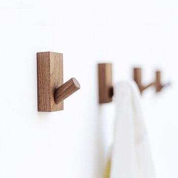 d4909b9497 Collalily nórdico de madera de diseño moderno ropa de pared bata gancho  perchero para pasillo gancho rieles decoración japonés americano