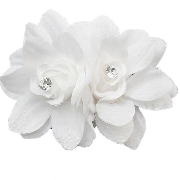 Womens Fashion Flower Hair Clip Hairpin Bridal Wedding Party Hair Accessories White