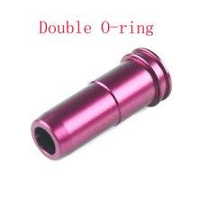 10 teile/paket Hohe dichtung CNC Aluminium Double O-ring Air Seal Nozzle für M4 M16 Serie Airsoft AEG