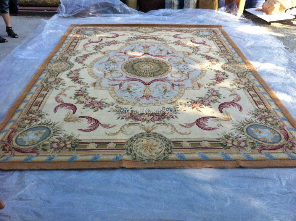Livraison gratuite 9'x12' 90 ligne Savonnerie tapis, 100% laine tapis fait main